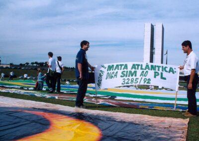 Manifestação pelo PL Mata Atlântica | Foto: Miriam Prochnow.