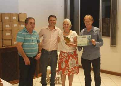 Apremavi recebe o Prêmio Ekos de Responsabilidade Socioambiental. Foto: João Pedro de Oliveira Gislon.