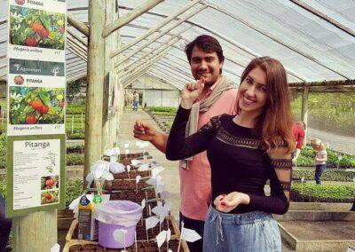 Sementinhas de Pitanga prontas para o plantio. Foto: Miriam Prochnow.