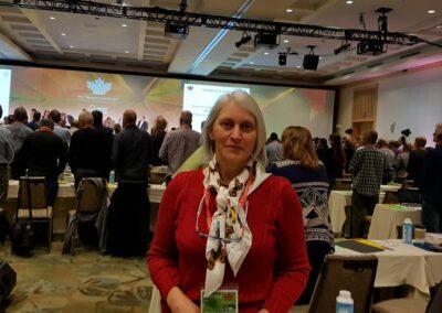 Miriam durante a Assembleia Geral do FSC 2017.