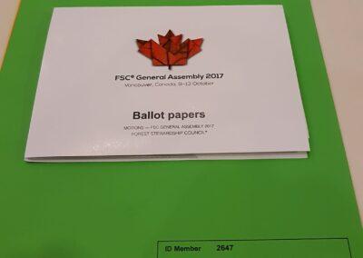 Caderno de moções a serem votadas na Assembleia Geral do FSC 2017.