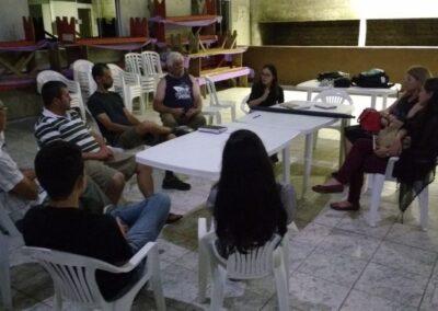 Reunião com representantes da comunidade Passo do Pupo. Foto: Edilaine Dick.