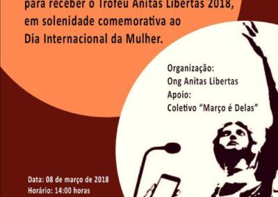 Convite para entrega do Troféu Anitas Libertas. Foto: Arquivo Apremavi.