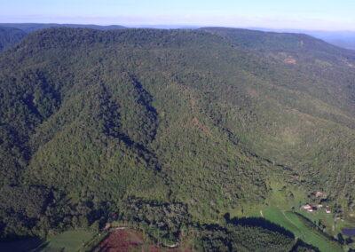 Vista aérea da RPPN Serra do Lucindo. Foto: Arquivo Apremavi.