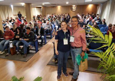 Edilaine Dick e Ricardo Rodrigues no Seminário Restaura Alto Vale. Foto: Marcos A. Danieli.