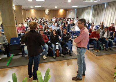Wigold Schäffer e Ricardo Rodrigues durante Seminário Restaura Alto Vale. Foto: Arquivo Apremavi.
