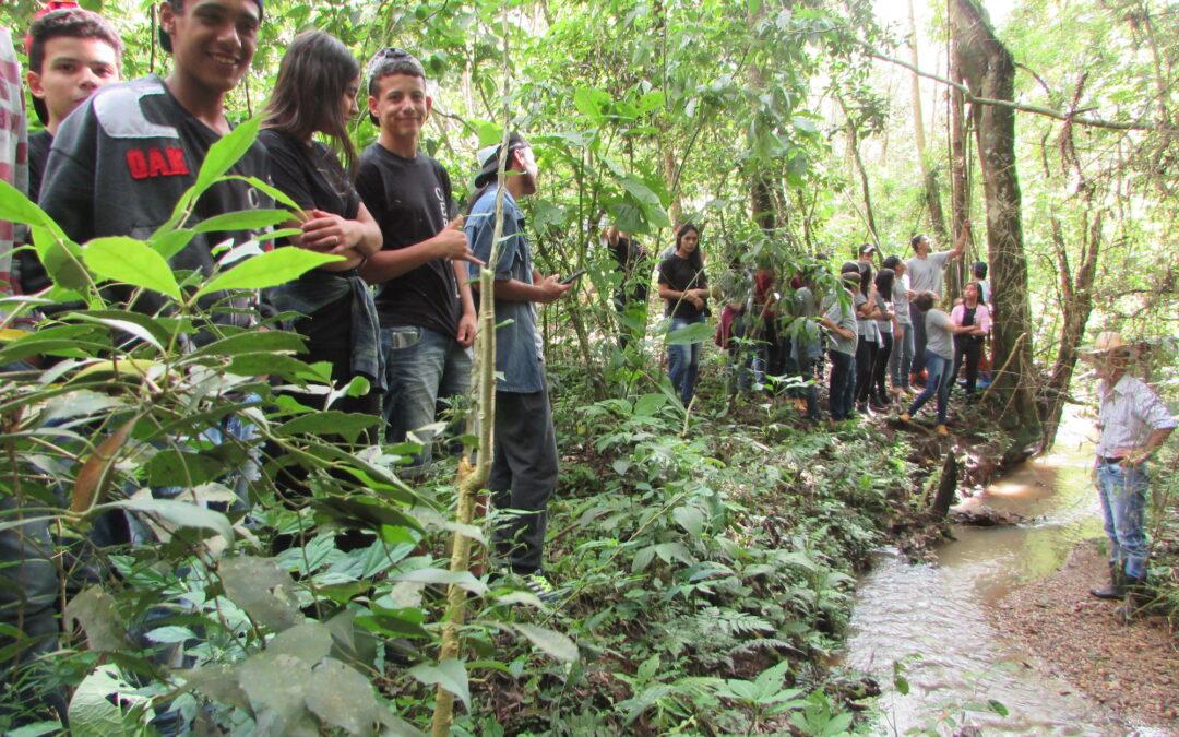 Matas Legais recupera nascentes e leva alunos para visitar áreas restauradas