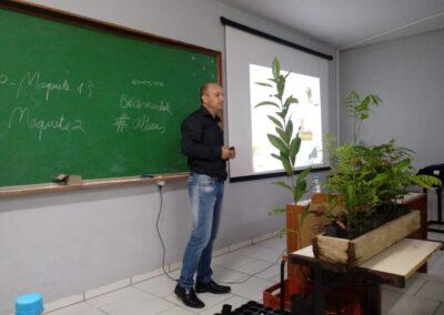 Minicurso no IFC, em  Rio do Sul. Foto: Daiana Tânia Barth.