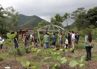 Visita ao espaço da horta orgânica do Sinal do Vale. Foto: Gabriel Carvalho.
