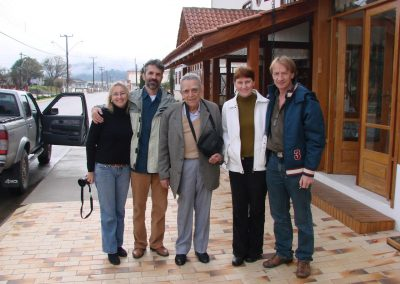 Paulo Nogueira-Neto com os amigos ambientalistas de SC. Foto: Arquivo Apremavi.