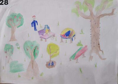 """Desenho de Miguel Alves para o concurso """"O bosque da escola"""". Foto: Miriam Prochnow."""