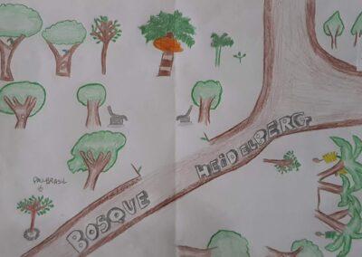 """Desenho de Hiago Valdecir Medeira para o concurso """"O bosque da escola"""". Foto: Miriam Prochnow."""