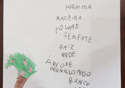 Acróstico elaborado por aluno do primeiro ano. Foto: Miriam Prochnow.