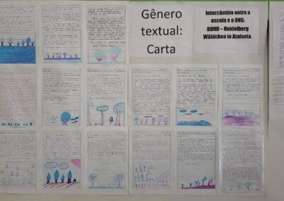 Mural com cartas elaboradas pelos alunos. Foto: Miriam Prochnow.