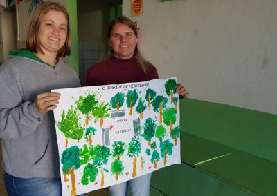 Cartaz elaborado pelos alunos do pré. Foto: Arquivo Apremavi.