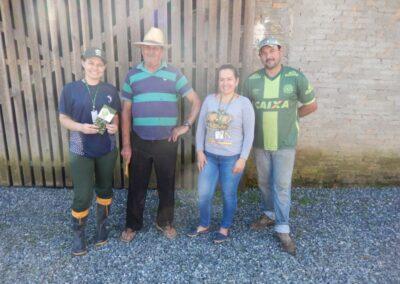 Propriedades visitadas pela equipe do Projeto Restaura Alto Vale. Foto: Arquivo Apremavi.