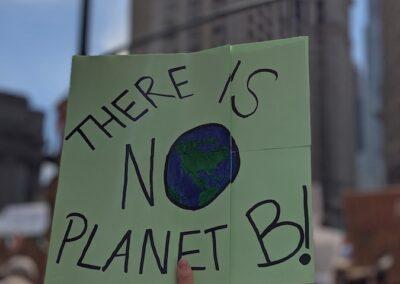 """""""Não existe um Planeta B""""."""