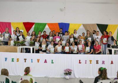 """Evento de lançamento da Cartilha """"O Bosque da Escola"""". Foto: Arquivo da EMEF Ribeirão Matilde."""