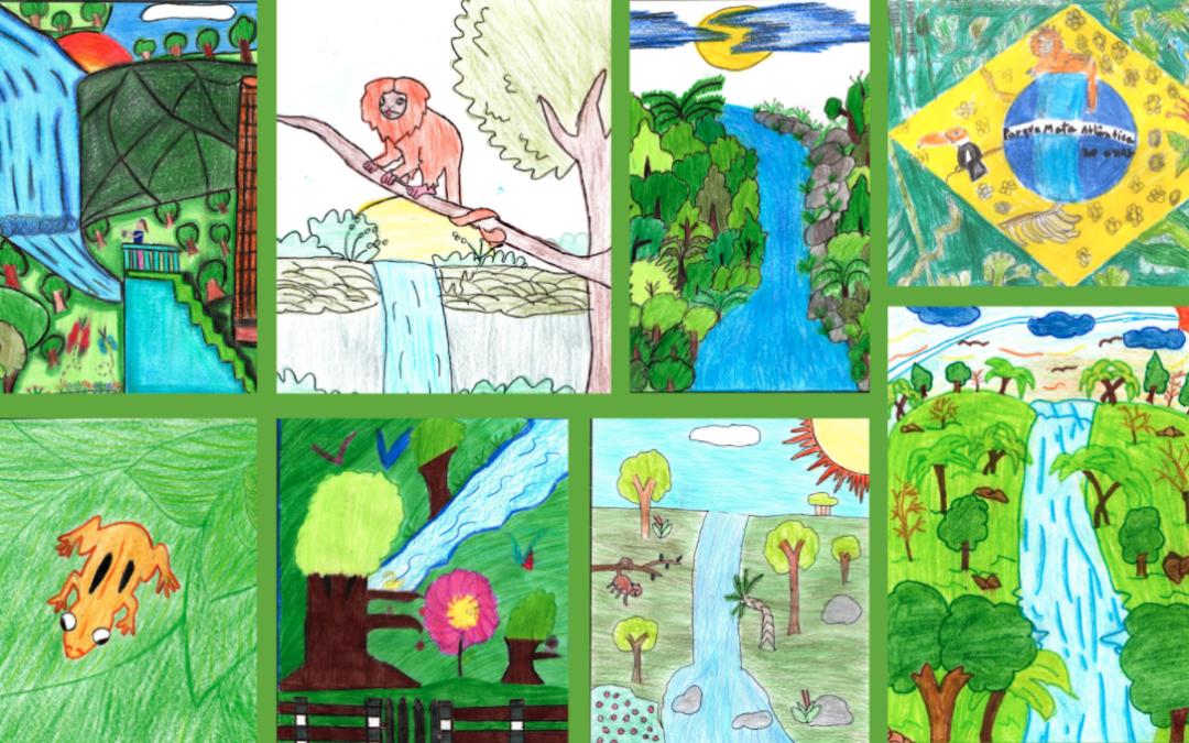 """Apremavi divulga os vencedores do Concurso de Desenho """"Parque Mata Atlântica 20 Anos"""""""