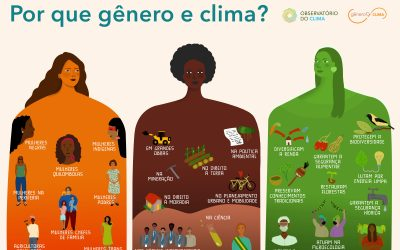 """GT de Gênero e Clima lança infográfico com a pergunta """"Por que gênero e clima?"""""""