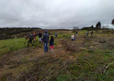 Plantio de mudas no Assentamento Neri Fabris reuniu assentados e equipe da Apremavi.