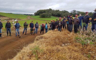 14 de agosto foi dia de mutirão de plantio de árvores no Assentamento Neri Fabris