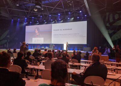 Discurso de posse da nova presidente da IUCN. Foto: Carolina Schaffer.